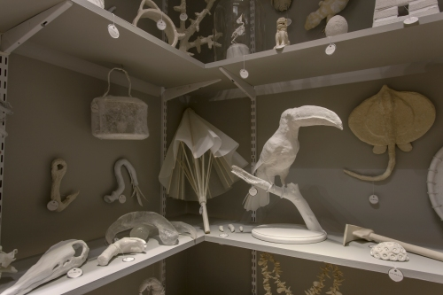 Museum Storage, home to the ghosts of the Jenks Collection, as created by over 80 artists.