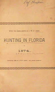 Title page, Hunting in Florida