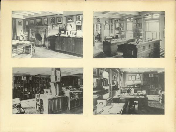 Alexander Agassiz's office at the Museum of Comparative Zoology, Harvard, about 1902. Courtesy Mayr Library, MCZ.