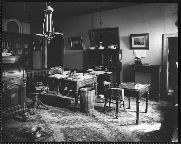 Secretary Baird's Office at the Smithsonian, 1878