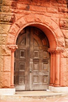 The exterior of the PT Barnum Museum in Bridgeport, CT