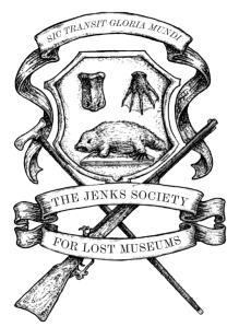 The logo of the Jenks Society, including a platypus without a bill.