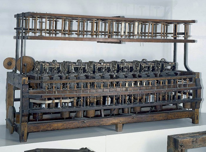 Slater spinning frame at the National Museum of American History, Catalog  T11197